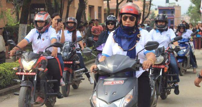 पर्यटन प्रवद्र्धन गर्न मोटरसाइकल यात्रा शुरु
