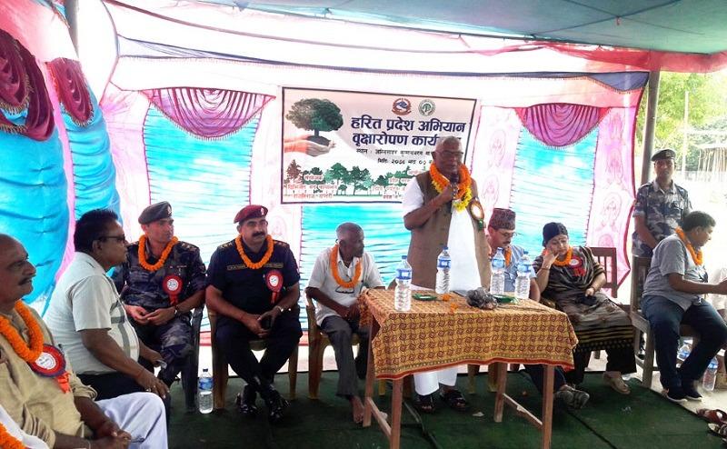 प्रदेश २ का आठ वटै जिल्लामा हरित प्रदेश अभियान शुरु