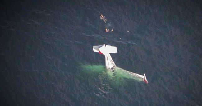 क्यालिफोर्नियामा उडिरहेको विमान बीच समुद्रमा खस्यो