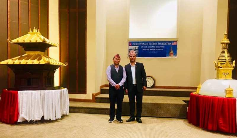 बोष्टनमा पशुपतिनाथ र बुद्ध स्तुपासहित नेपाली कम्युनिटी सेन्टरको भवन खरिद