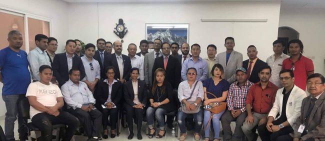 दूतावाससँग एनआरएनए कुवेतको औपचारिक भेटघाट