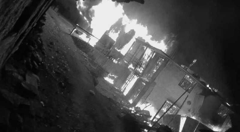 वडा अध्यक्षको घरमा अज्ञात समूहद्वारा आगजनी