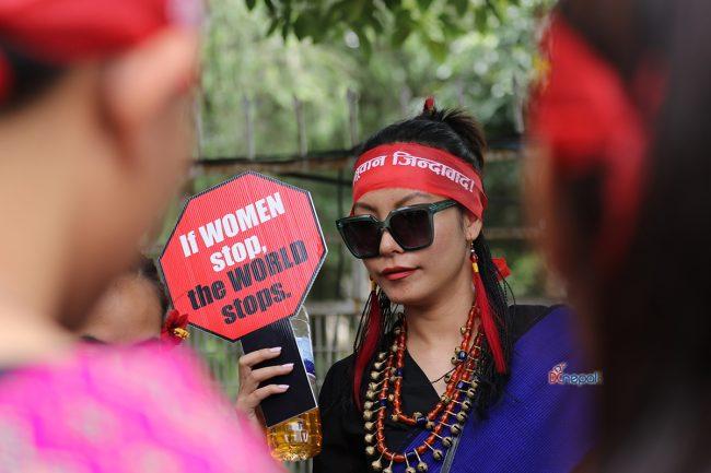 आन्दोलनको रुपमा मनाइयो २५औं विश्व आदिवासी दिवस (फोटोफिचर)