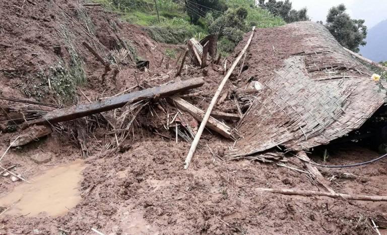 उदयपुरको रौतामाईका आधा दर्जन गाउँ पहिरोको जोखिममा