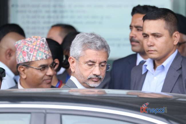 नेपाल–भारत संयुक्त आयोगको बैठकमा भाग लिन एस जयशंकर काठमाडौंमा