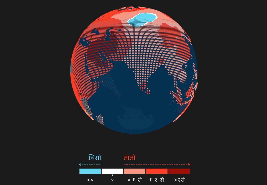 यसरी तातिँदै छ पृथ्वी, काठमाडौंको अवस्था कस्तो छ?