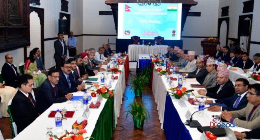 नेपाल-भारत संयुक्त आयोगको बैठक सम्पन्न