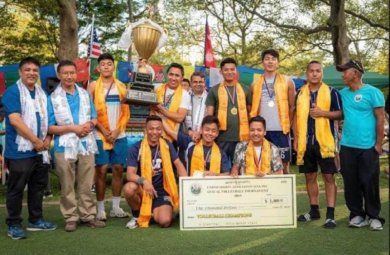 शेर्पा किदुग अमेरिकाको वार्षिक खेलकूद प्रतियोगिता सम्पन्न