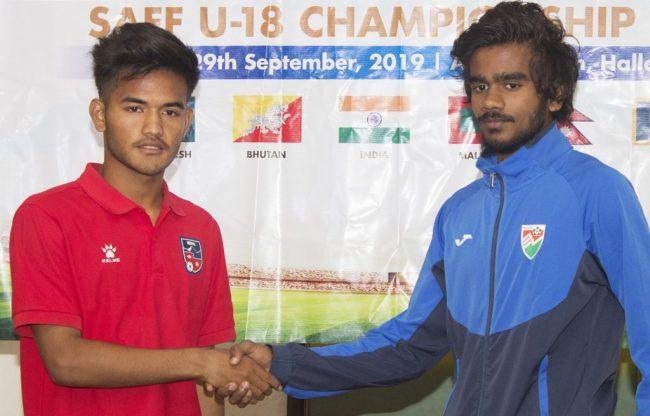 साफ यू–१८ फुटबलमा नेपाल र माल्दिभ्सको खेल बराबरी