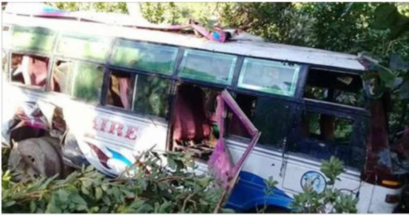 तनहुँको कमलाबारीमा भारतीय बस दुर्घटना, २७ जना घाइते