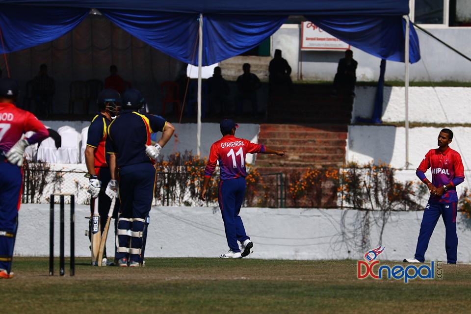 एमसीसी ३९ ओभरमै अलआउट, नेपाललाई जीतको लागि २०२ रनको लक्ष्य