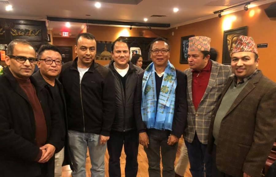 एनआरएन उपाध्यक्ष लामालाई अमेरिकामा भव्य स्वागत