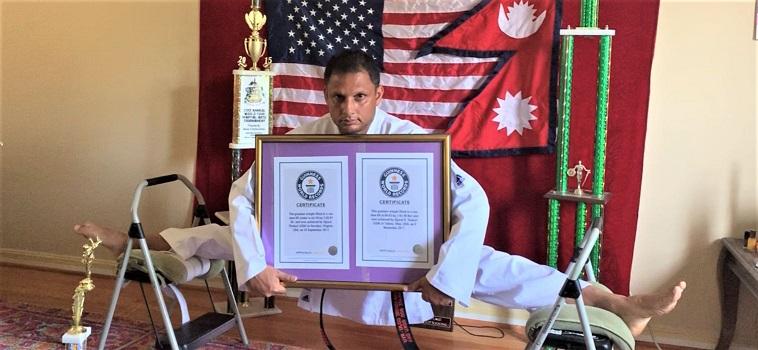 अमेरिकाका विश्व किर्तिमानीधारी ठकुरीलाई चौथो र पाँचौं विश्व गिनीज कीर्तिमान प्राप्त