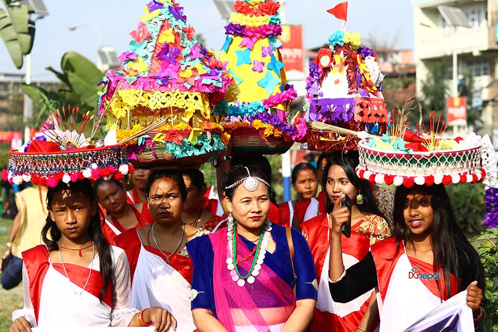माइतीघरमा यसरी मनाईयो थारु समुदायको समाचकेवा पर्व (फोटोफिचर)