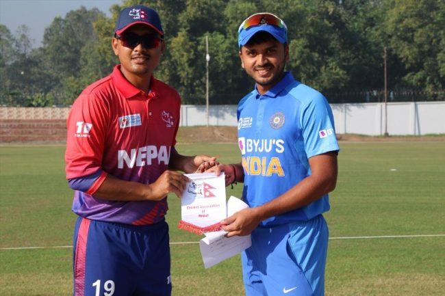 २८ तस्वीरमा हेर्नुहोस् इमर्जिंग टिम्स कपमा नेपाल–भारत क्रिकेट