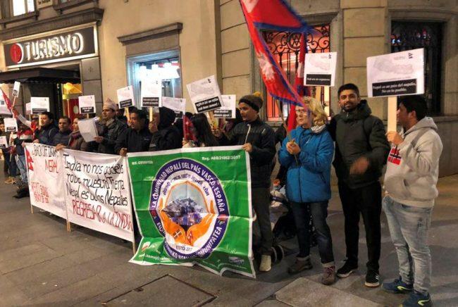 स्पेनस्थित भारतीय दूतावासमा नेपालीको विरोध प्रदर्शन