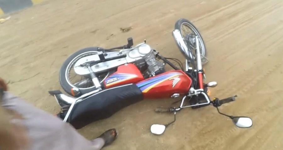 गङ्गटेमा मोटरसाइकल दुर्घटना, चालकको मृत्यु