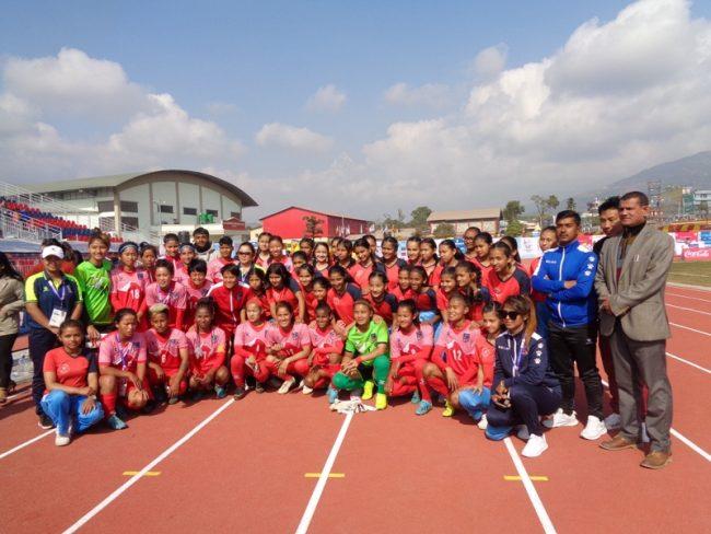 महिला फुटबलः नेपाल भारतसँग पराजित
