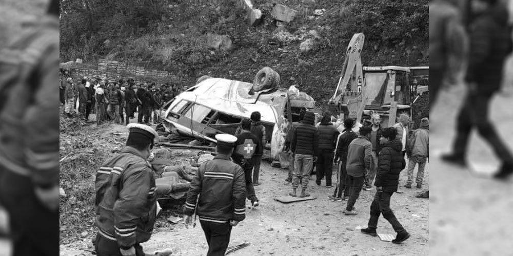 सिन्धुपाल्चोक बस दुर्घटनामा परी ज्यान गुमाउने १५ जनाकै सनाखत