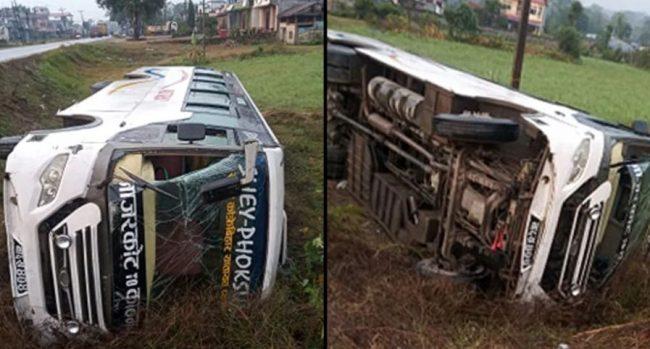 कावासोतीमा बस दुर्घटना, १७ जना नेपाली सेना घाइते