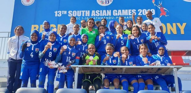 महिला फुटबलः माल्दिभ्सलाई कास्य