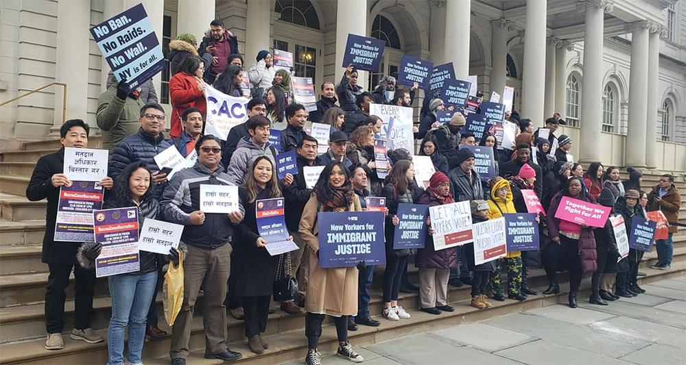 न्यूयोर्कमा आप्रवासीलाई पनि मतदानको अधिकार दिलाउने अभियान