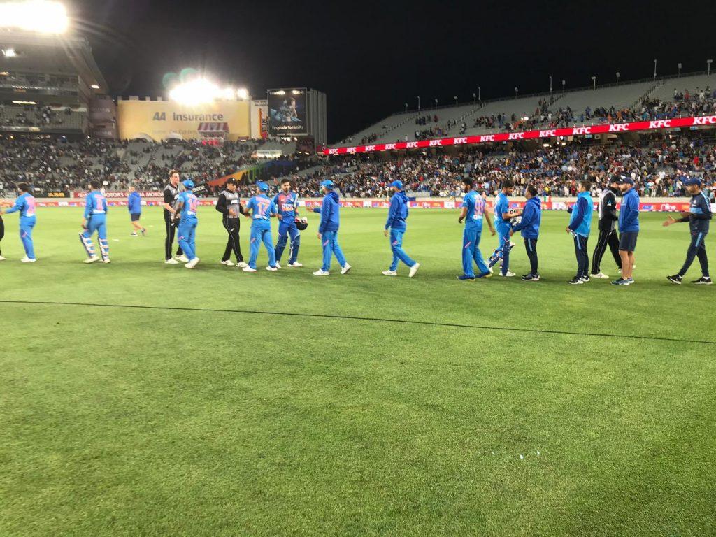 न्युजिल्याण्डसँगको पहिलो टी–२०मा भारतको जित