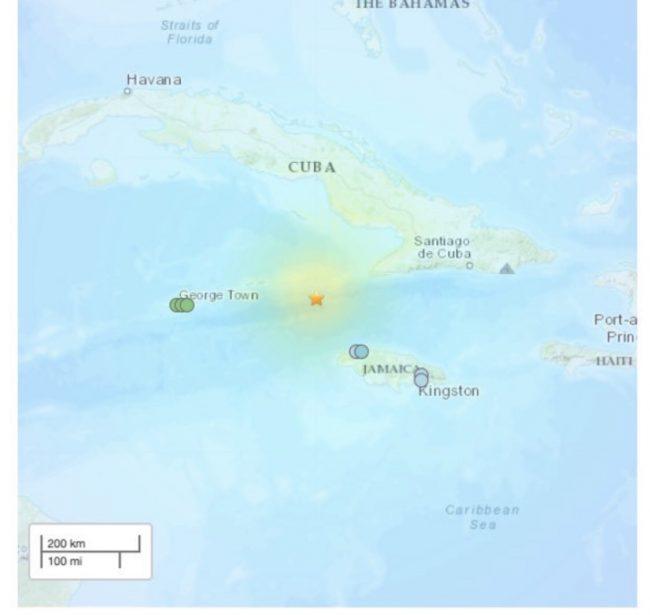 जमैकाको समुद्री तटमा ७ दशमलव ७ रेक्टर स्केलको भूकम्प ; सुनामी अलर्ट जारी