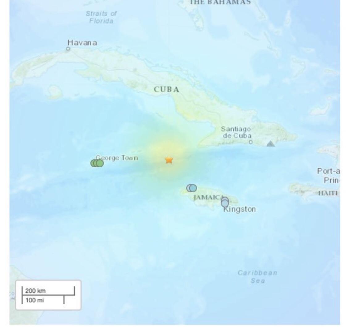 जमैकाको समुद्री तटमा ७ दशमलव ७ रेक्टर स्केलको भूकम्प: सुनामी अलर्ट जारी