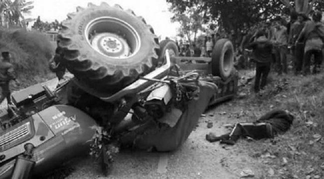 ताप्लेजुङमा ट्र्याक्टरबाट खसेर १ जनाकाे निधन