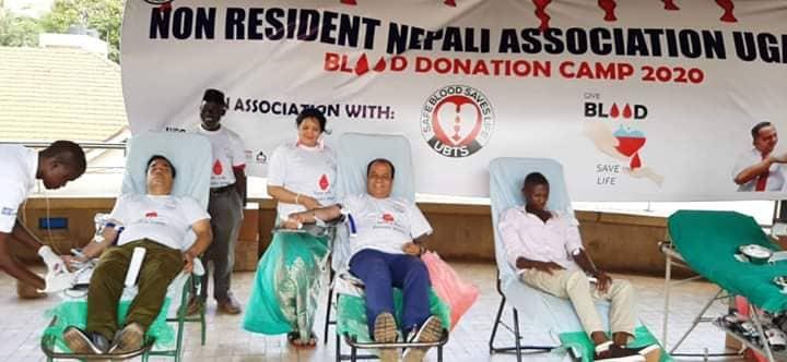 एनआरएनए युगान्डाद्वारा रक्तदान