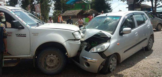 माले महासचिव मैनाली चढेको कार दुर्घटना, अवस्था गम्भीर