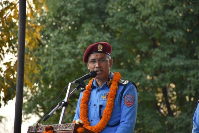 बागमती प्रदेशस्तरीय सुरक्षा गोष्ठीमा प्रहरी महानिरीक्षकको सम्बोधन