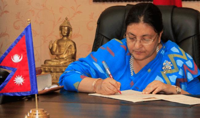 नेपाल–अमेरिका सम्बन्ध राष्ट्रपति वाइडेनको कार्यकालमा घनीभूत हुने राष्ट्रपति भण्डारीको विश्वास