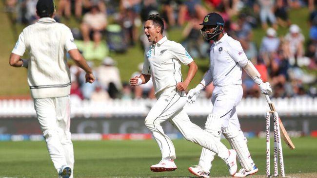 न्यूजिल्यान्ड र भारत पहिलो टेस्टः तेस्रो दिनको खेल सकिँदा भारत ३९ रनले पछाडि