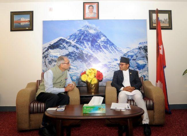 अध्यक्ष तिमिल्सिनासँग नवनियुक्त भारतीय राजदूतको शिष्टचार भेट