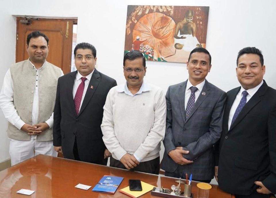 अध्यक्ष ढकाल र केजरीवालबीच भेटवार्ता, केजरिवाल नेपाल भ्रमण गर्न इच्छुक