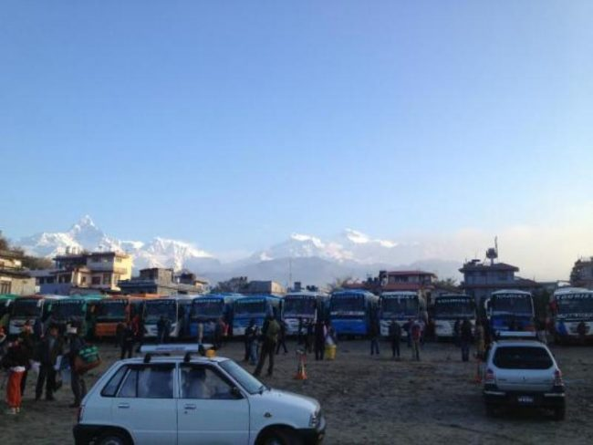 बसमार्फत १४८ विदेशी पर्यटक काठमाडौँ पठाइयो