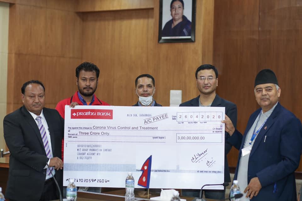 कोरोनाविरुद्द लड्न नेपाल सरकारलाई गैरआवासीय घले दम्पतीले दिए ३ करोड सहयोग