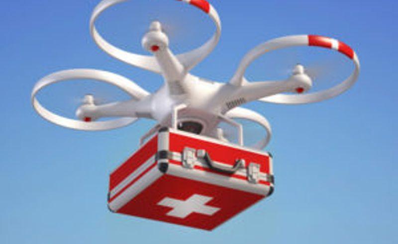 बेलायतका अस्पतालमा ड्रोनबाट औषधी र खाद्यान्न