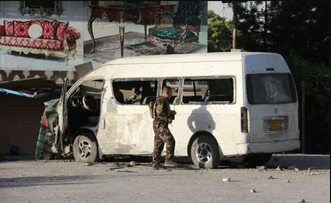 अफगानिस्तानको काबुलमा वम विस्फोट हुँदा एक पत्रकारसहित बस चालकको मृत्यु
