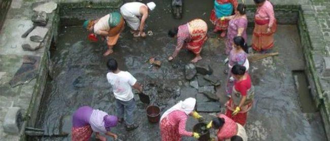 पानीको मुहानका स्रोत सफाइ गर्दै सिथी नखः सम्पन्न