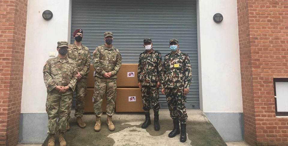 अमेरिकी दूतावासले नेपाली सेनालाई दियो ३५०० भिटिएम किट