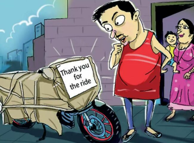 लकडाउनमा बाइक चोरेर परिवारलाई घर पुर्याए, कुरियरबाट बाइक मालिकलाई फिर्ता पठाइदिए
