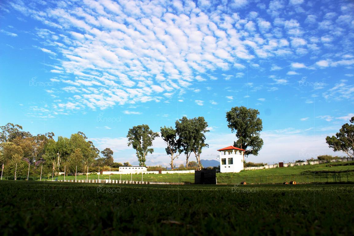 हरियो घासमा सजिएर खेलाडी तथा सर्मथकहरु कुर्दै टियु अन्तर्राष्ट्रिय क्रिकेट मैदान (फोटो फिचर)