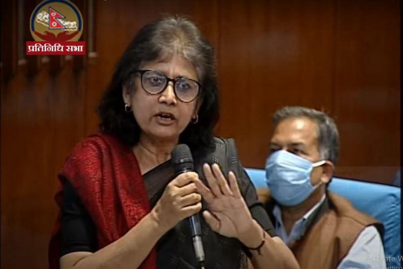 सरिता गिरीलाई सांसदबाट हटाउने पत्र संसद सचिवालयमा