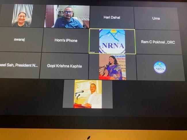 एनआरएनए अमेरिकाज क्षेत्रको बैठक र ज्ञानसम्मेलनको तयारी