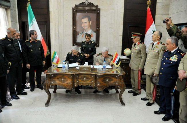 सिरिया र इरानबीच सैन्य सहयोग सम्बन्धि सम्झौतामा हस्ताक्षर