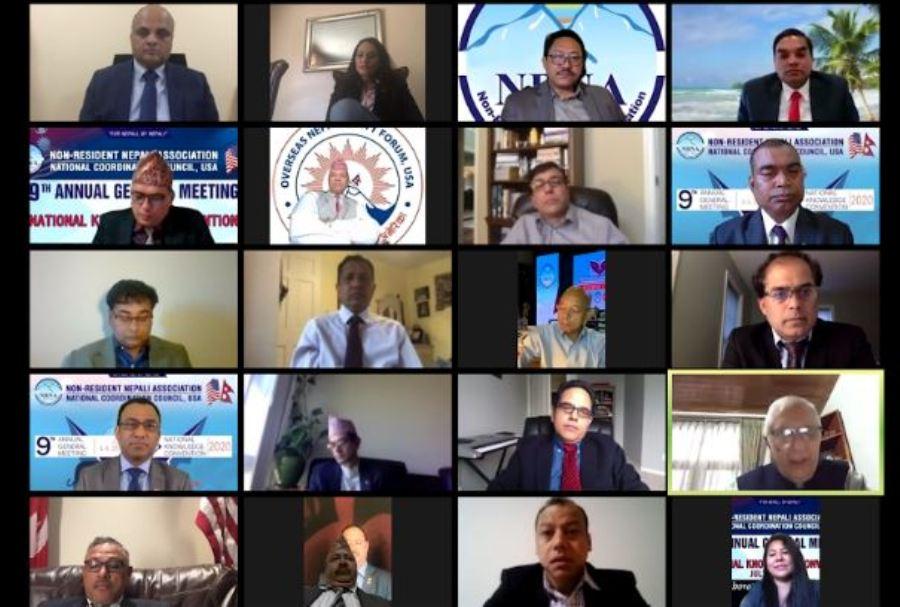 एनआरएनए अमेरिकाको नवौं साधारणसभा तथा राष्ट्रिय ज्ञान सम्मेलन सम्पन्न