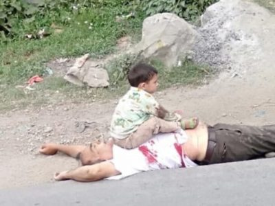 कश्मीर इन्काउन्टरको एक हृदयविदारक तस्वीर